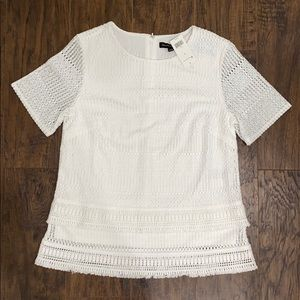 Adorable knit white banana republic top size small